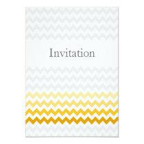Mod chevron yellow and gray  Ombre wedding invites