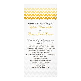 Mod chevron yellow and gray  Ombre Wedding program