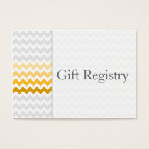 Mod chevron yellow Ombre Gift Registry Cards