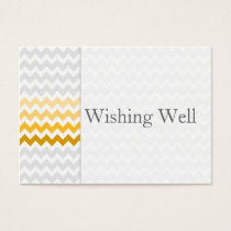 Mod chevron yellow ombre wishing well cards