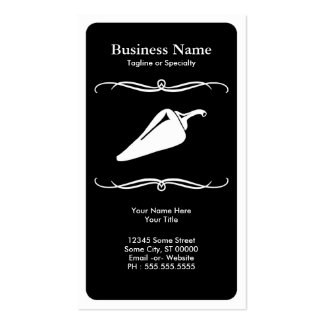 mod chili pepper : black and white business card