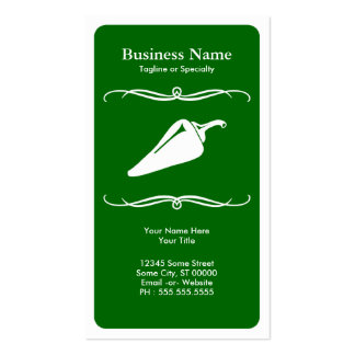 mod chili pepper business card