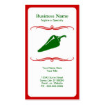 mod chili pepper Double-Sided standard business cards (Pack of 100)