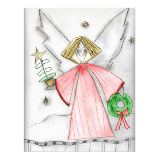 Mod Christmas Angel Personalized Flyer