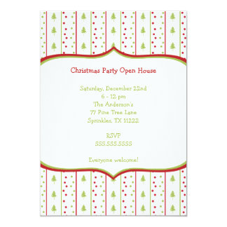 Mod Christmas Party Invitation with Trees