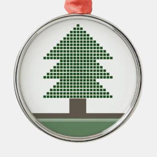 Mod Christmas Tree Premium Round Ornament