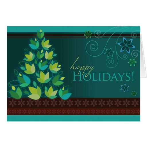 mod christmas tree teal greeting cards r0b97b095c6984fb182ef9ad4a25b0dab xvuak 8byvr 512 Teal Christmas