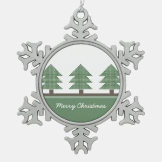 Mod Christmas Trees Holiday Ornament