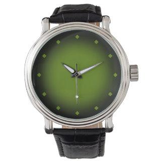 Mod Circle Gradient (green black) Wristwatch