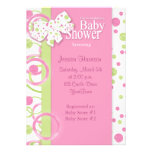 Mod Circles Baby Girl Shower Invitation