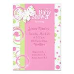 "Mod Circles Baby Girl Shower Invitation 5"" X 7"" Invitation Card"