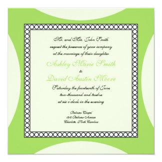 Mod Circles - Lime Wedding Invitation