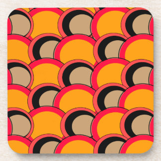 Mod Circles Orange Drink Coaster