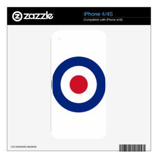 Mod - Classic Roundel - Bullseye Archery Target Skin For iPhone 4