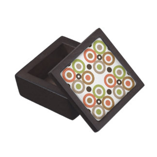 Mod Clover Circles Geometric Jewelry/Trinket Box Premium Keepsake Box