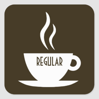 mod coffee : regular square sticker