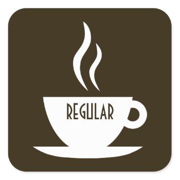 Coffee Themed mod coffee : regular square sticker