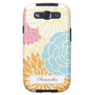 MOD colorida floral Galaxy S3 Cárcasas
