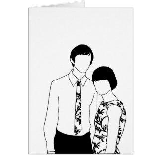 Mod Couple Greeting Card