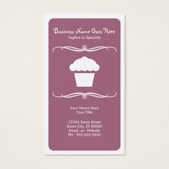 mod cupcake business card