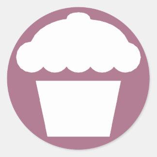 mod cupcake classic round sticker