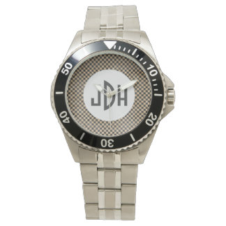 Mod Custom Monogram Stainless Steel Watch