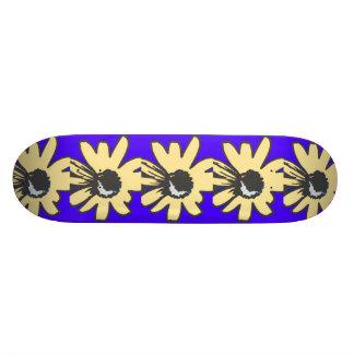 Mod Daisy blue and gold Skate Deck