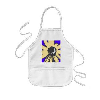 Mod daisy, blue and yellow   HEVi Fineart Kids' Apron