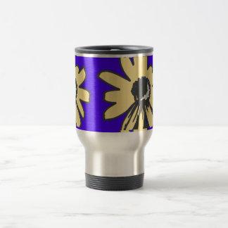 Mod daisy, blue and yellow   HEVi Fineart Travel Mug