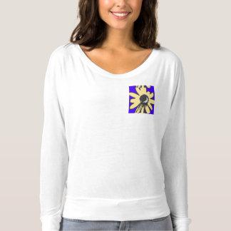 Mod daisy blue and yellow t-shirt