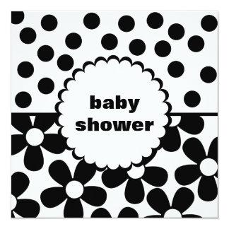 Mod Daisy Dot Baby Shower Invitation