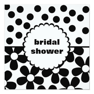 Mod Daisy Dot Bridal Shower Invitation