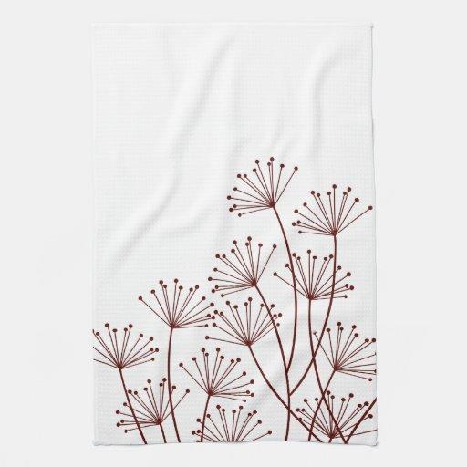mod dandelions designer kitchen towel zazzle