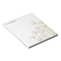 Mod Dandelions, Personalized Notepad