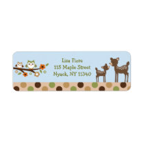 Mod Deer Owl Forest Address Labels