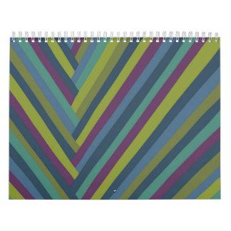 MOD del extracto del verde púrpura y verde oliva Calendario
