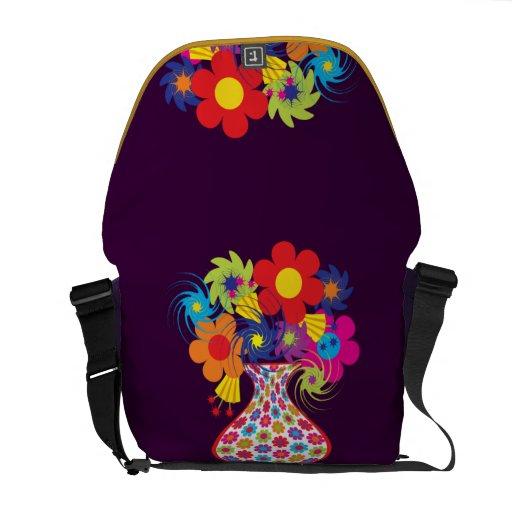 MOD del personalizable floral Bolsa Messenger