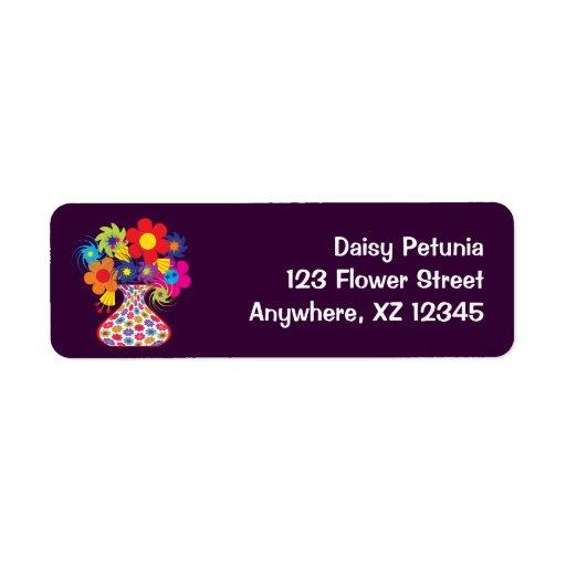 MOD del personalizable floral Etiqueta De Remite