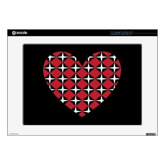 "Mod Diamond Heart 15"" Laptop Decals"