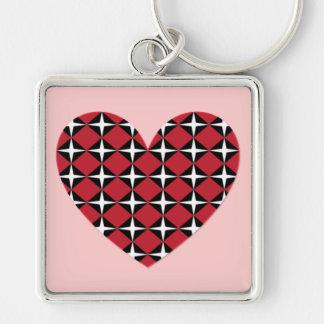 Mod Diamond Heart Keychain