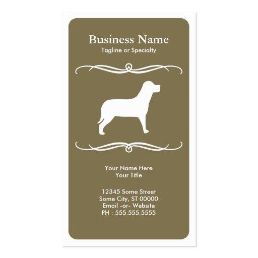 mod dog business card