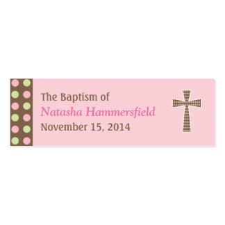 Mod Dots Baptism Small Tag Mini Business Card