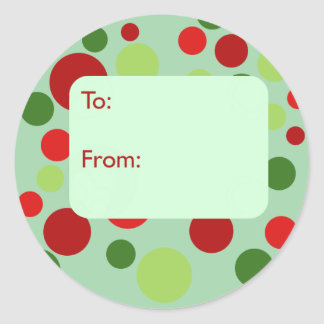 Mod Dots Gift Tag Stickers