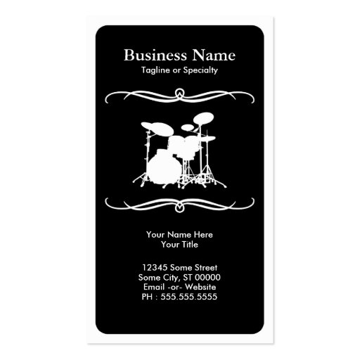 mod drums business card template