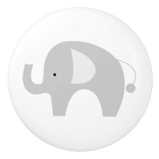 Mod Elephant Ceramic Knob - White