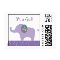 Mod Elephant Personalized Postage Stamps