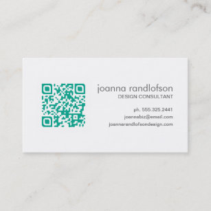 Emerald green business cards zazzle mod emerald green qr code business card reheart Gallery
