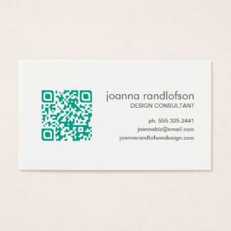 Mod Emerald Green QR CODE Business Card