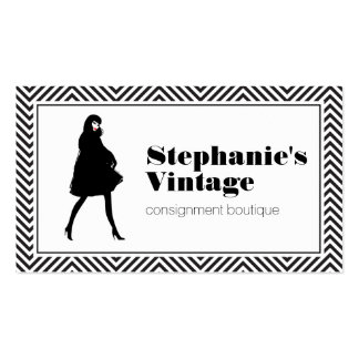 Mod Fashion Girl I Consignment Shop, Boutique Business Card