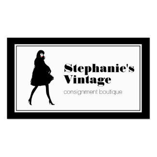 Mod Fashion Girl II Consignment Shop, Boutique Business Card